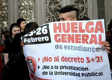 Huelga de estudiantes contra la ley educativa y la reforma universitaria
