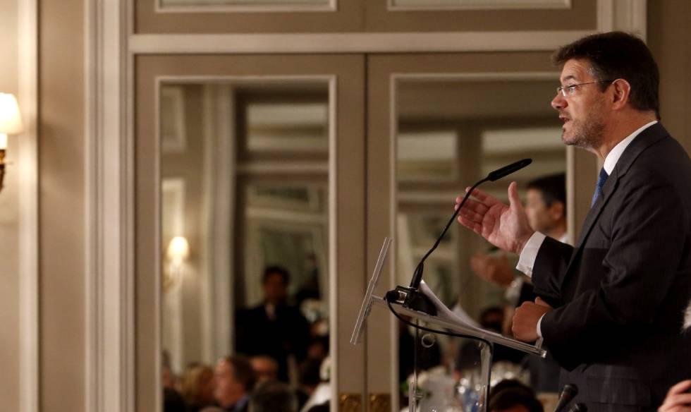 El ministro de Justicia, Rafael Catalá, este lunes en Madrid.