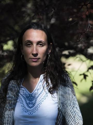 Eva Anadón, en Zaragoza, tras su expulsión de Mozambique.