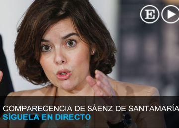 Directo | Rueda de prensa de Soraya Sáenz de Santamaría