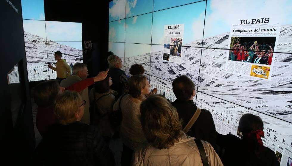 Exposición de EL PAÍS en Cibeles