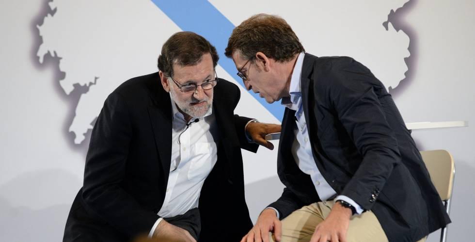 Rajoy y Alberto Núñez Feijóo, este viernes en Ourense.
