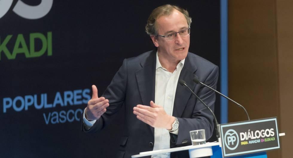 El presidente del PP vasco y ministro de Sanidad, Servicios Sociales e Igualdad en funciones.