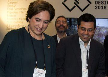 La alcaldesa del 15-M visita al alcalde de Ocupa Wall Street