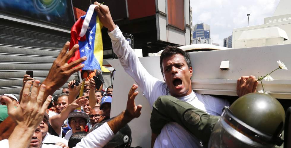 Leopoldo López, en 18 de febrero de 2014.