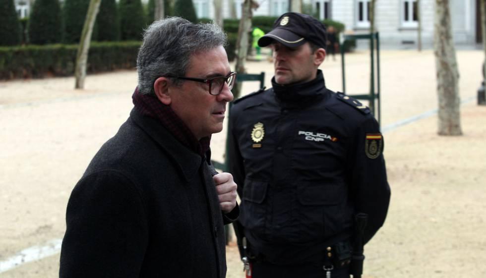Jordi Pujol Ferrusola, durante una de sus declaraciones ante la sede de la Audiencia Nacional