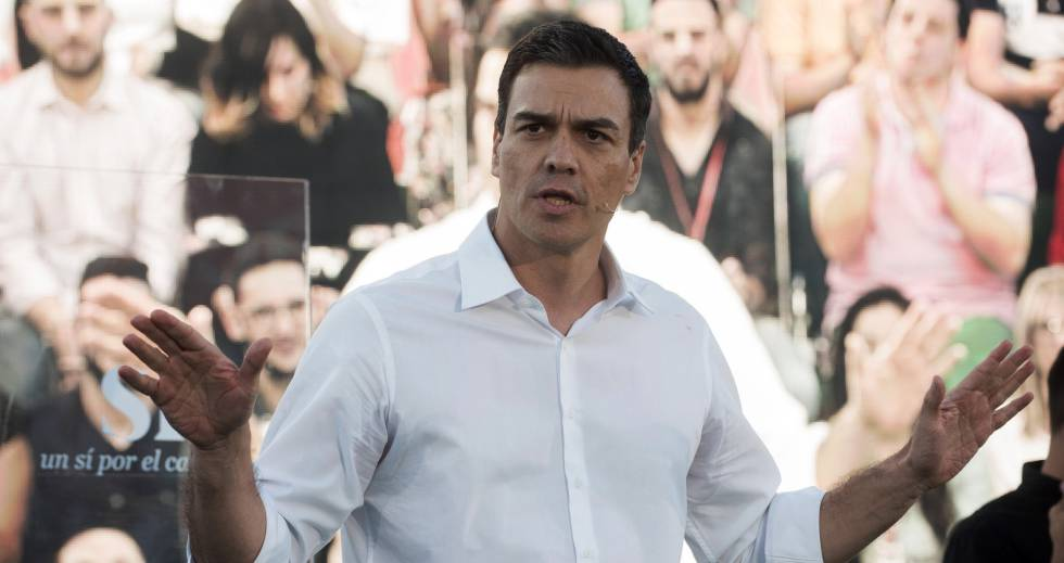 El líder del PSOE, Pedro Sánchez, el lunes.