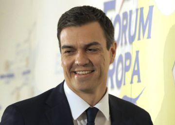 Pedro Sánchez, este jueves en el Fórum Europa.