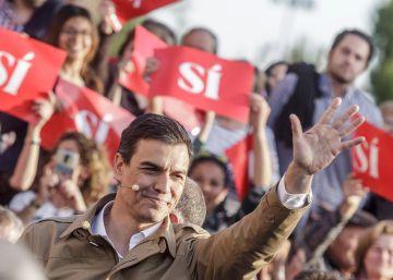 """Pedro Sánchez: """"Quien apoye a Iglesias está votando contra el PSOE"""""""