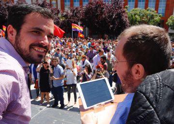 Echenique y Garzón tienden la mano al PSOE pero apelan también a sus votantes