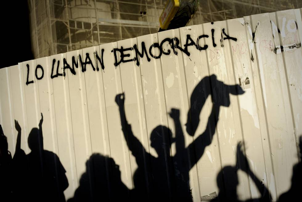 Protesta en Madrid contra el elevado desempleo juvenil en 2011, en uno de los peores momentos de la crisis económica.