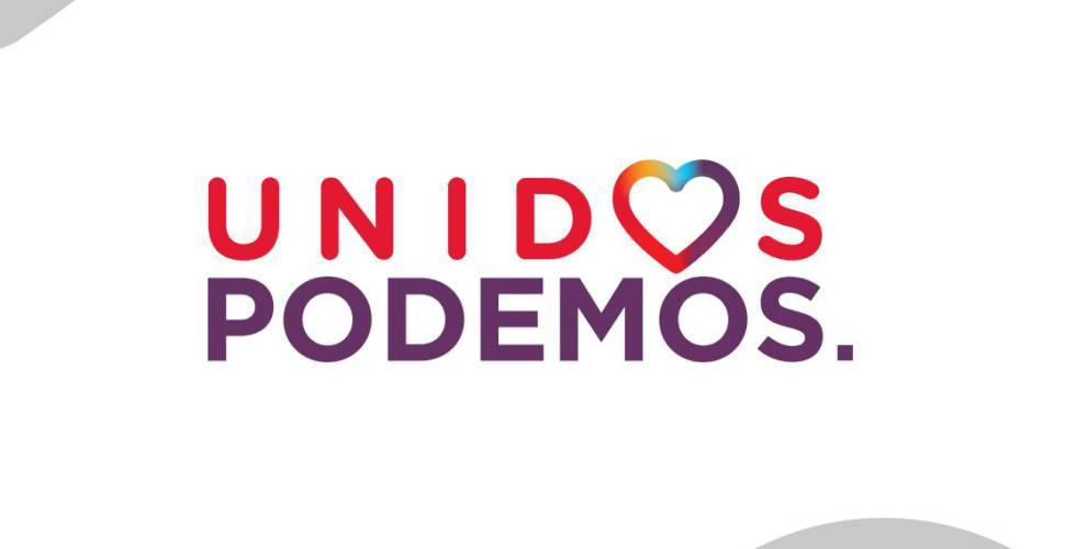 El logo que usará Izquierda Unida, con el fondo blanco.