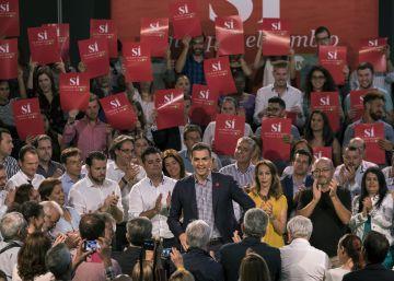 El PSOE veta los colores morado y naranja