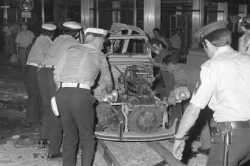 El bar El Parnasillo de Madrid tras el atentado de 1979