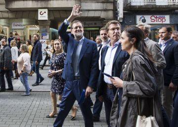 Rajoy en Pontevedra, a los seis meses del puñetazo