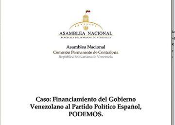 La Asamblea de Venezuela investiga la financiación de Podemos por el chavismo