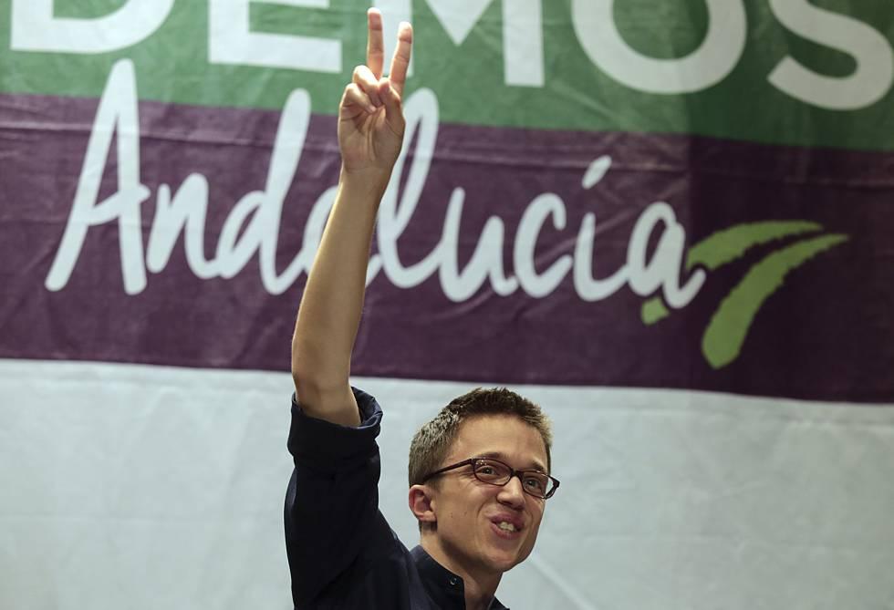 Iñigo Errejón, durante un mitin de Podemos.