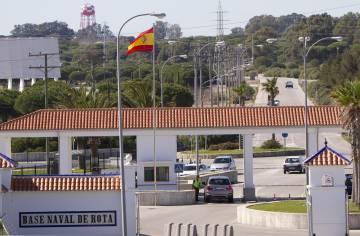 Entrada de la base naval de Rota (Cádiz) en una imagen de 2011.