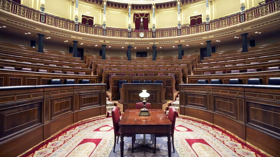 El hemiciclo del Congreso de los Diputados vacío, en junio de 2014.