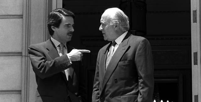 Aznar y Arzalluz, en la primavera de 1996 en La Moncloa.