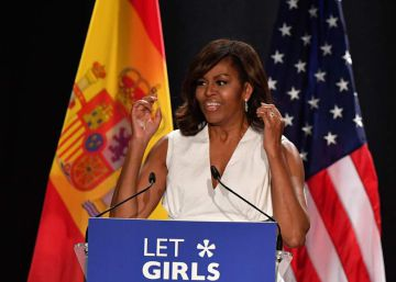 In Madrid, Michelle Obama calls for fight against gender inequality
