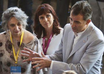 El Rey 'resiste' en el templo del independentismo catalán