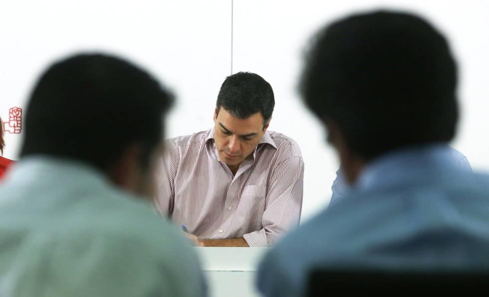 Pedro Sánchez, en una reunión de la ejecutiva del PSOE en junio.