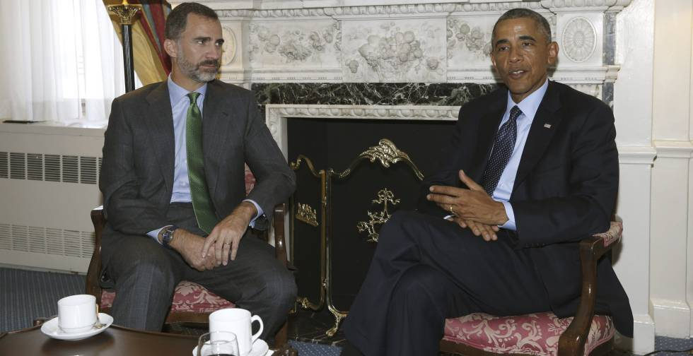 Felipe VI y Barack Obama durante una reunión en Nueva York en la Cumbre sobre el Clima.