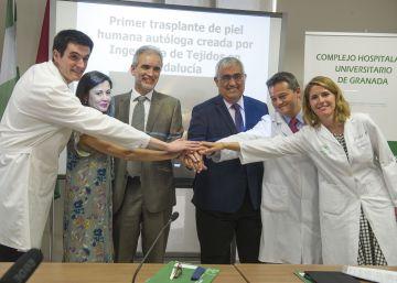 Realizado el primer trasplante de piel creada con células del paciente