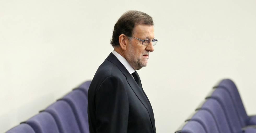 Mariano Rajoy, presidente del Gobierno en funciones, en La Moncloa.