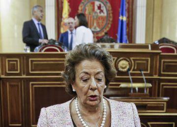 Rita Barberá denuncia ante la policía que ha recibido un sobre con una bala dentro