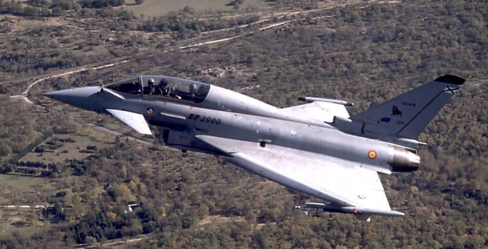 Imagen del avión de combate Eurofighter.