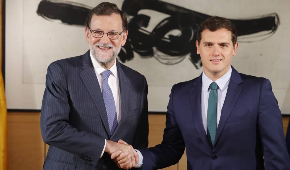 Mariano Rajoy y Albert Rivera, este miércoles.