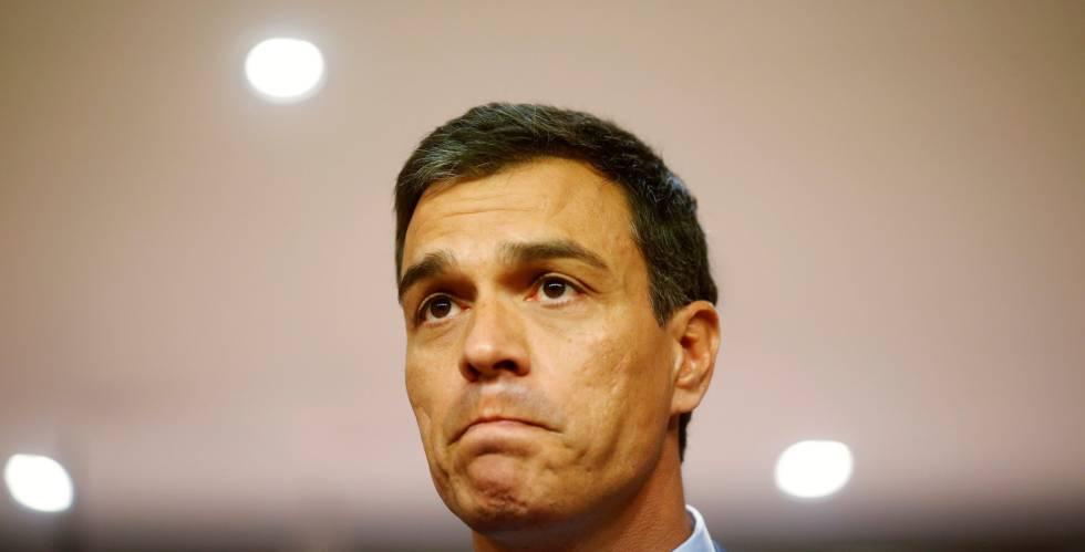 Pedro Sanchez tras la reunión con Mariano Rajoy el pasado martes.
