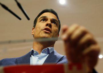 """Sánchez: """"El PSOE votará en contra de la investidura de Rajoy y de los Presupuestos"""""""