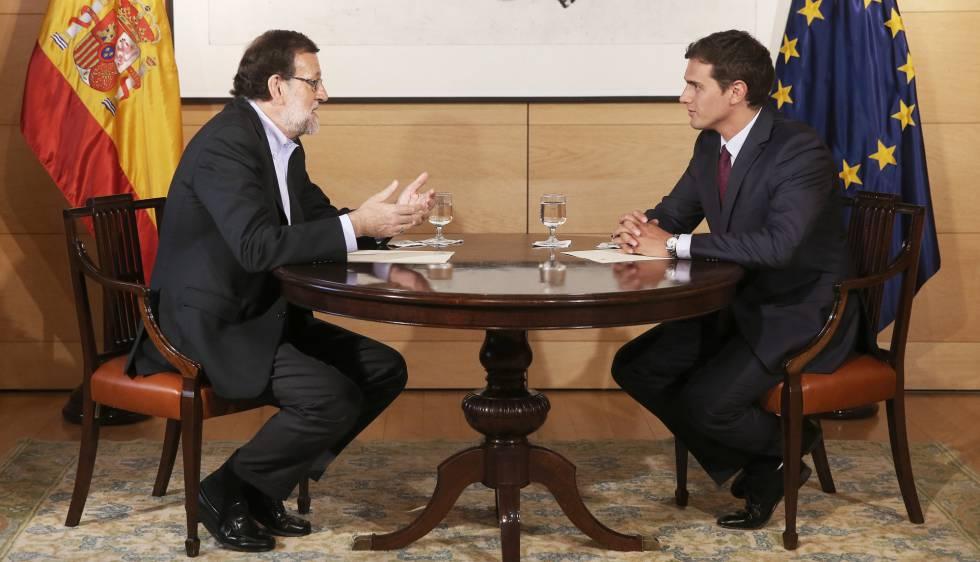 Mariano Rajoy y Albert Rivera, durante su reunión del miércoles.