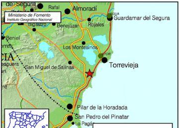 Un terremoto de 2,4 en Torrevieja se deja sentir en la costa alicantina
