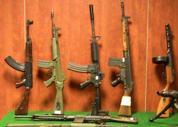 El 20% de las armas incautadas en cinco años son de guerra
