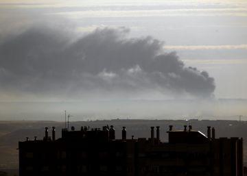Declarado un incendio en una planta de reciclaje en Guadalajara