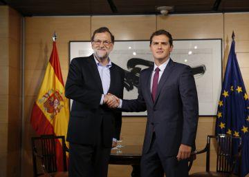 Mariano Rajoy y Albert Rivera en el Congreso el 18 de agosto