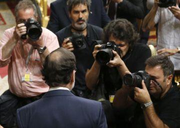 El presidente en funciones, Mariano Rajoy, este martes.