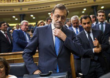 Mariano Rajoy en el Congreso este lunes.
