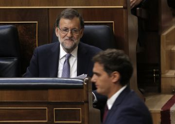 Mariano Rajoy durante el debate de investidura.