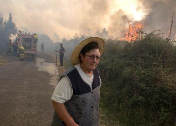Cinco incendios en Ourense calcinan 3.250 hectáreas en un día