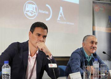 """La UGT agradece a Sánchez su """"valentía"""" por resistir """"las presiones"""" para que gobierne Rajoy"""