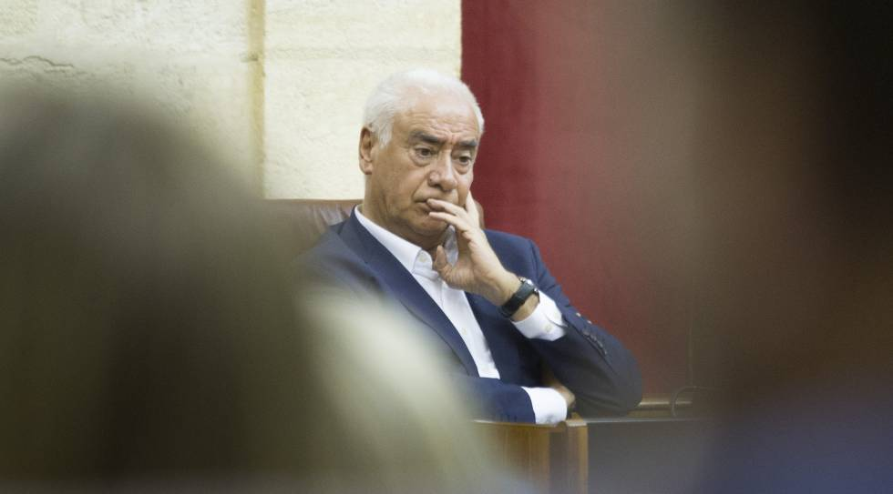 El diputado socialista y exconsejero andaluz, Luciano Alonso, hoy en el Parlamento.