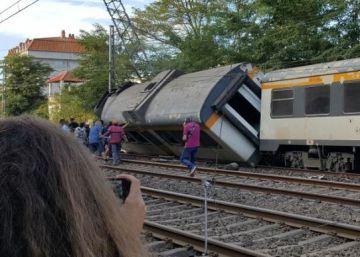 Al menos cuatro muertos tras descarrilar un tren de pasajeros en Pontevedra
