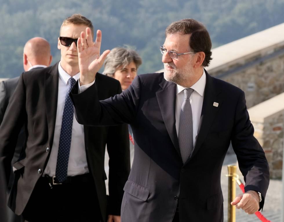 El presidente en funciones Mariano Rajoy a su llegada a la cumbre de la UE en Bratislava (Eslovaquia) el pasado viernes.