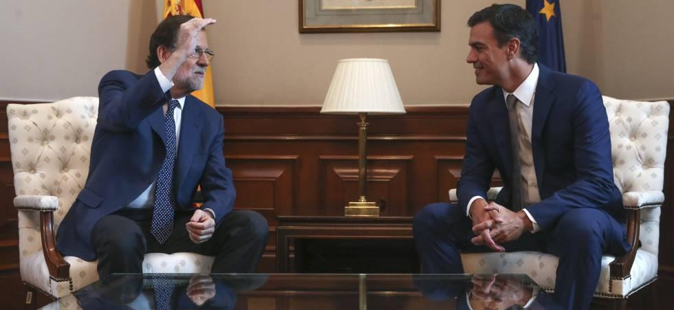 Mariano Rajoy y Pedro Sánchez en la reunión del pasado mes de agosto.