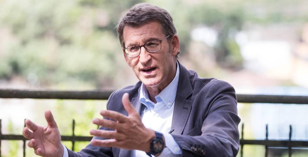 El candidato del PP a la presidencia de la Xunta de Galicia, Alberto Núñez Feijóo.